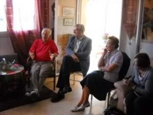 (De gauche à droite) : M. Brain PURSER; M. Maurice TAXIL; Mme Monique PICON PRYOR et Mme Gilberte LOISON