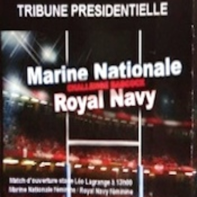 MATCH DE RUGBY : MARINE NATIONALE / ROYAL NAVY 19 mars 2014